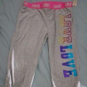 Pants - NEW Cute soft LOVE lounge pants Grey